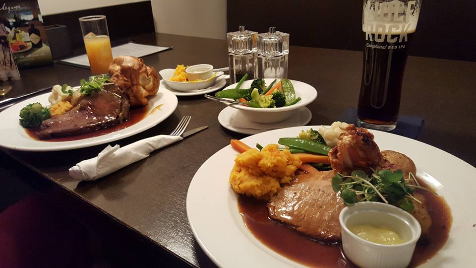 Sunday lunch at Laguna Restaurant Park Plaza in Cardiff