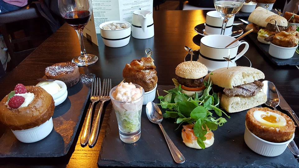 Gentleman's afternoon tea at Park Plaza Cardiff