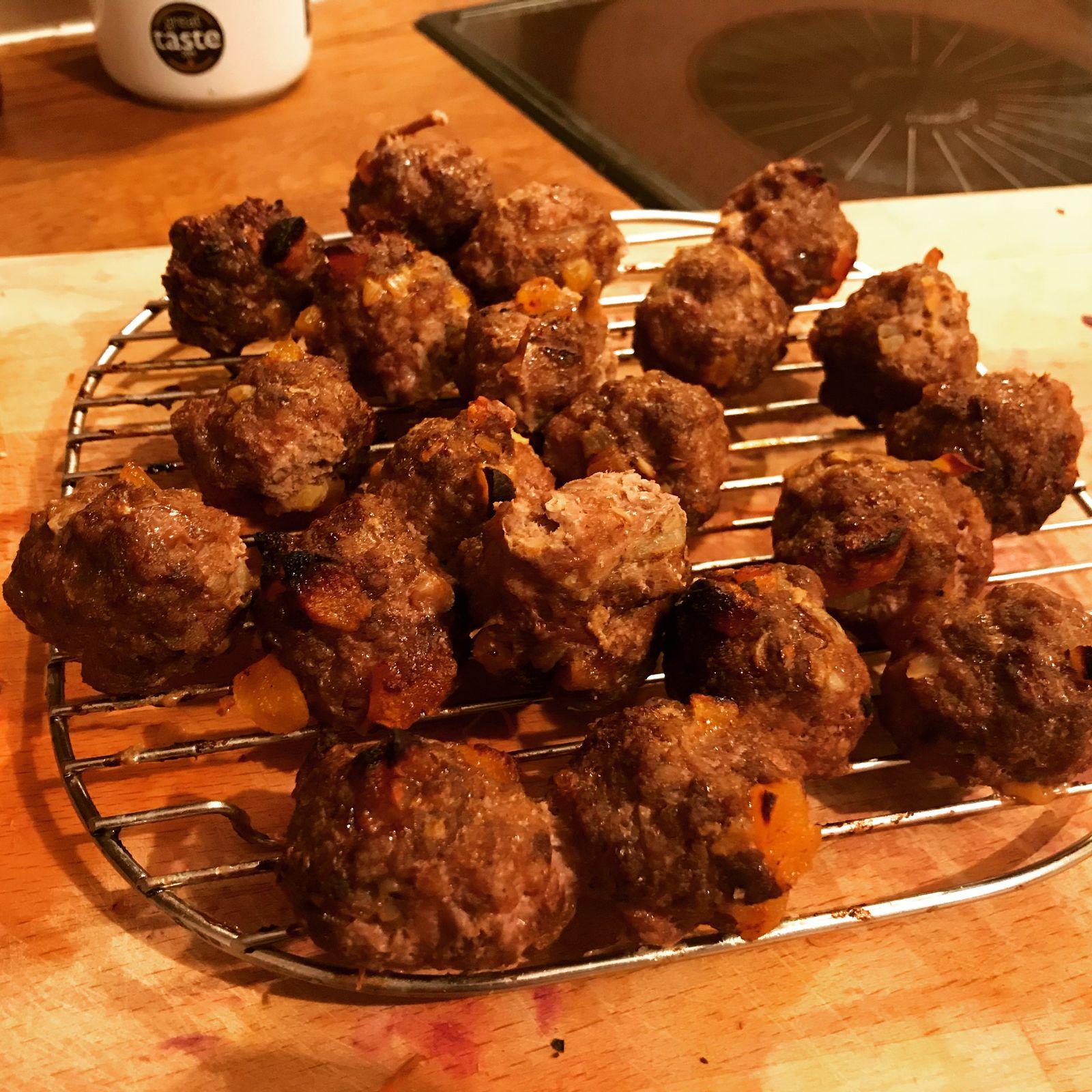Baharat and apricot lamb meatballs recipe