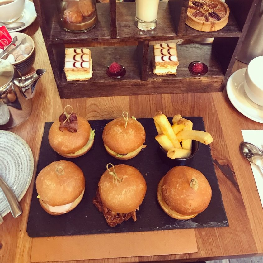 slider afternoon tea at Celtic Manor