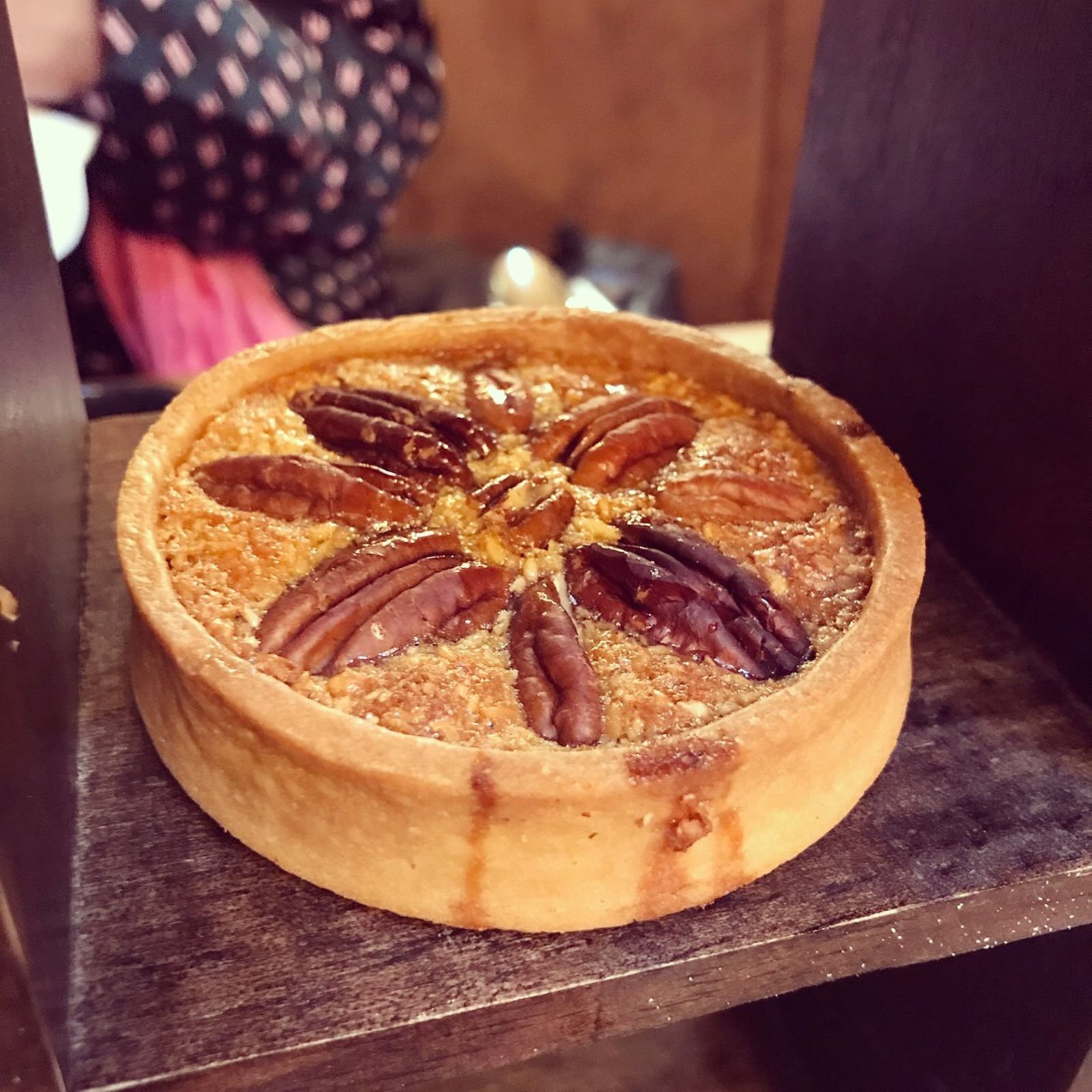 warm pecan pie with Slider afternoon tea at Celtic Manor