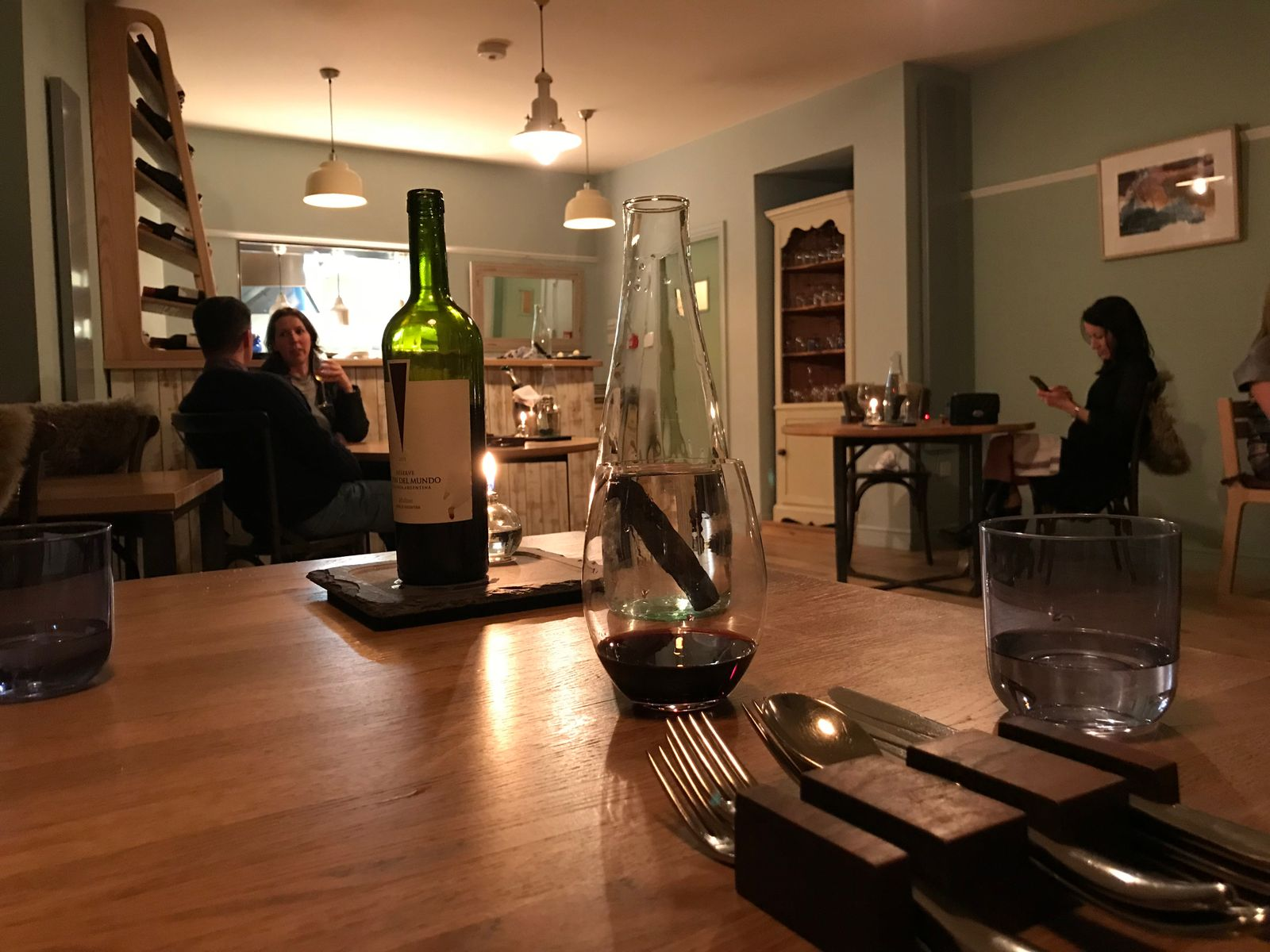 Inside the restaurant at Sosban and the old butchers Anglesey
