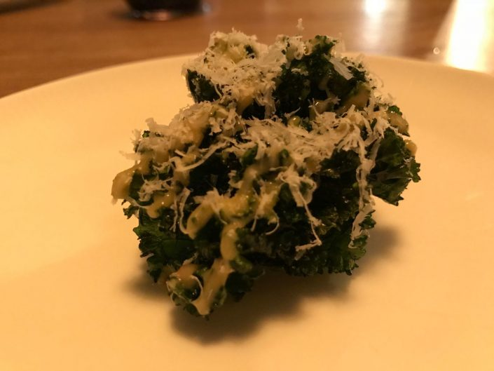 kale caesar and pecorino at sosban and the old butchers anglesey