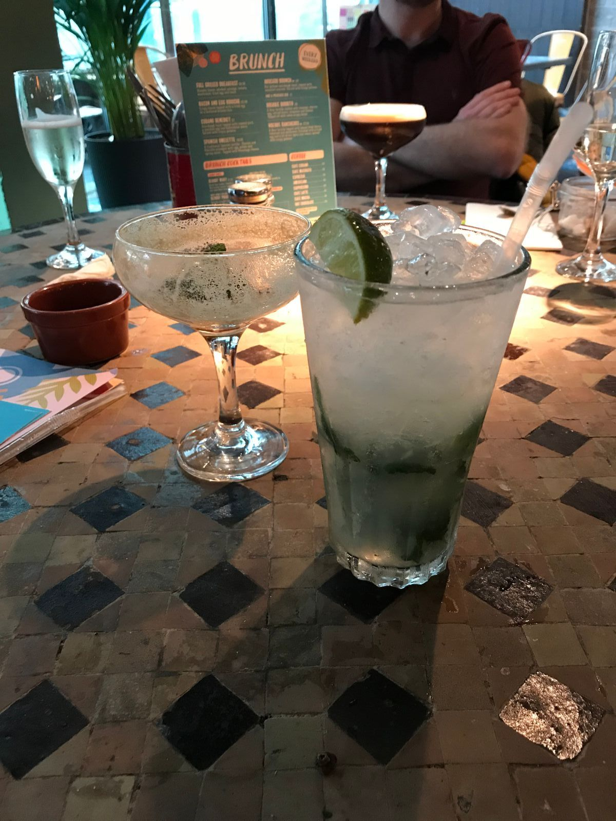 mojito at revs de cuba bottomless brunch cardiff