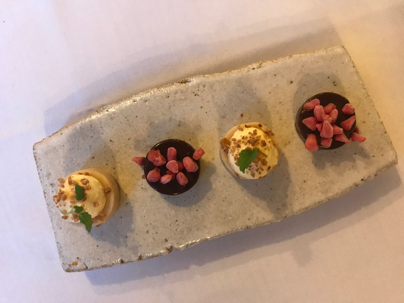 Final course and dessert at The Granary Newtown