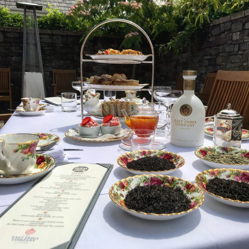 Afternoon Tea at The Angel Hotel Abergavenny with East India Company Tea