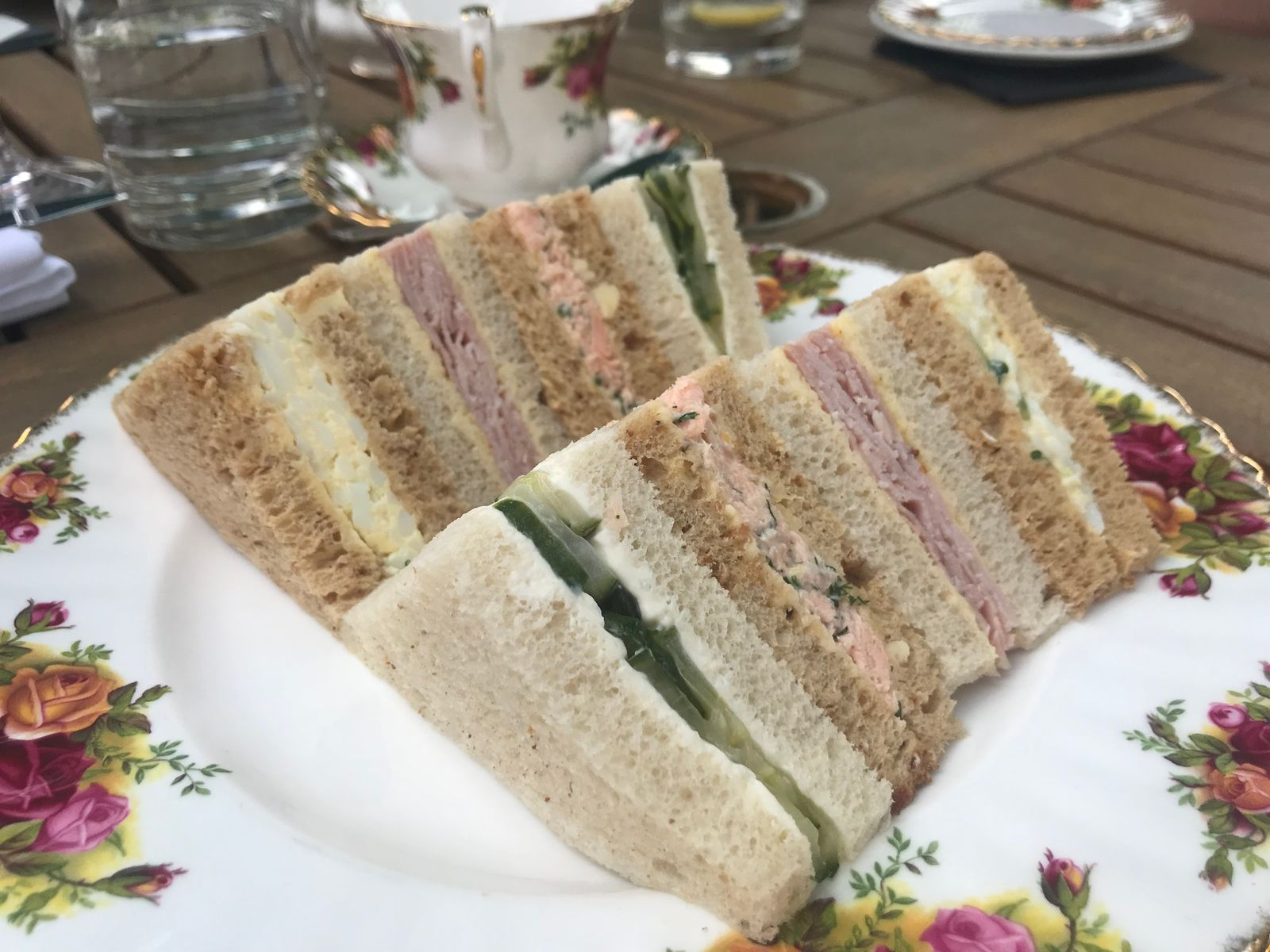 Sandwiches from the afternoon tea at The Angel Hotel Abergavenny