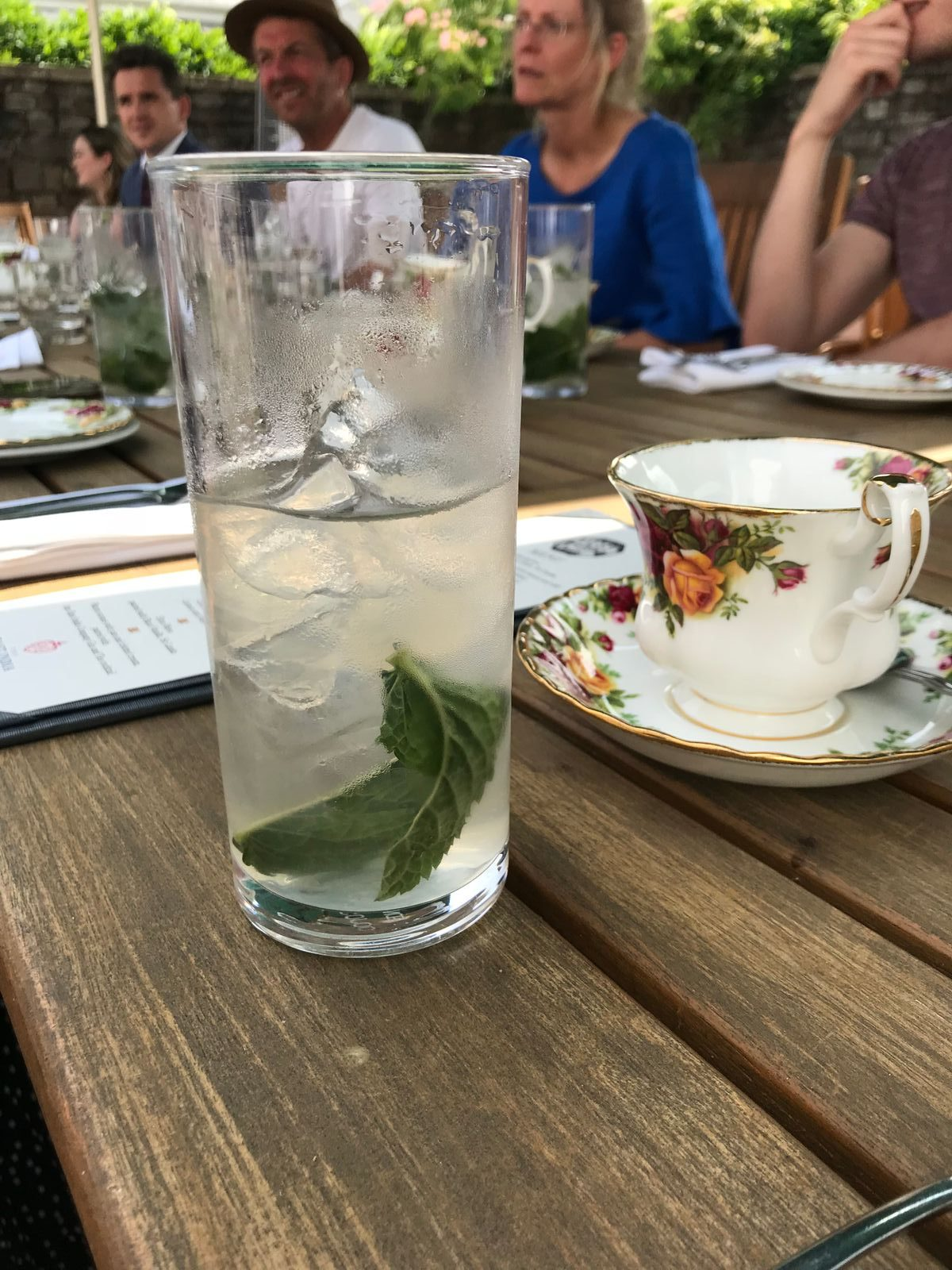 East India Company Green Tea cooler at The Angel Hotel Abergavenny