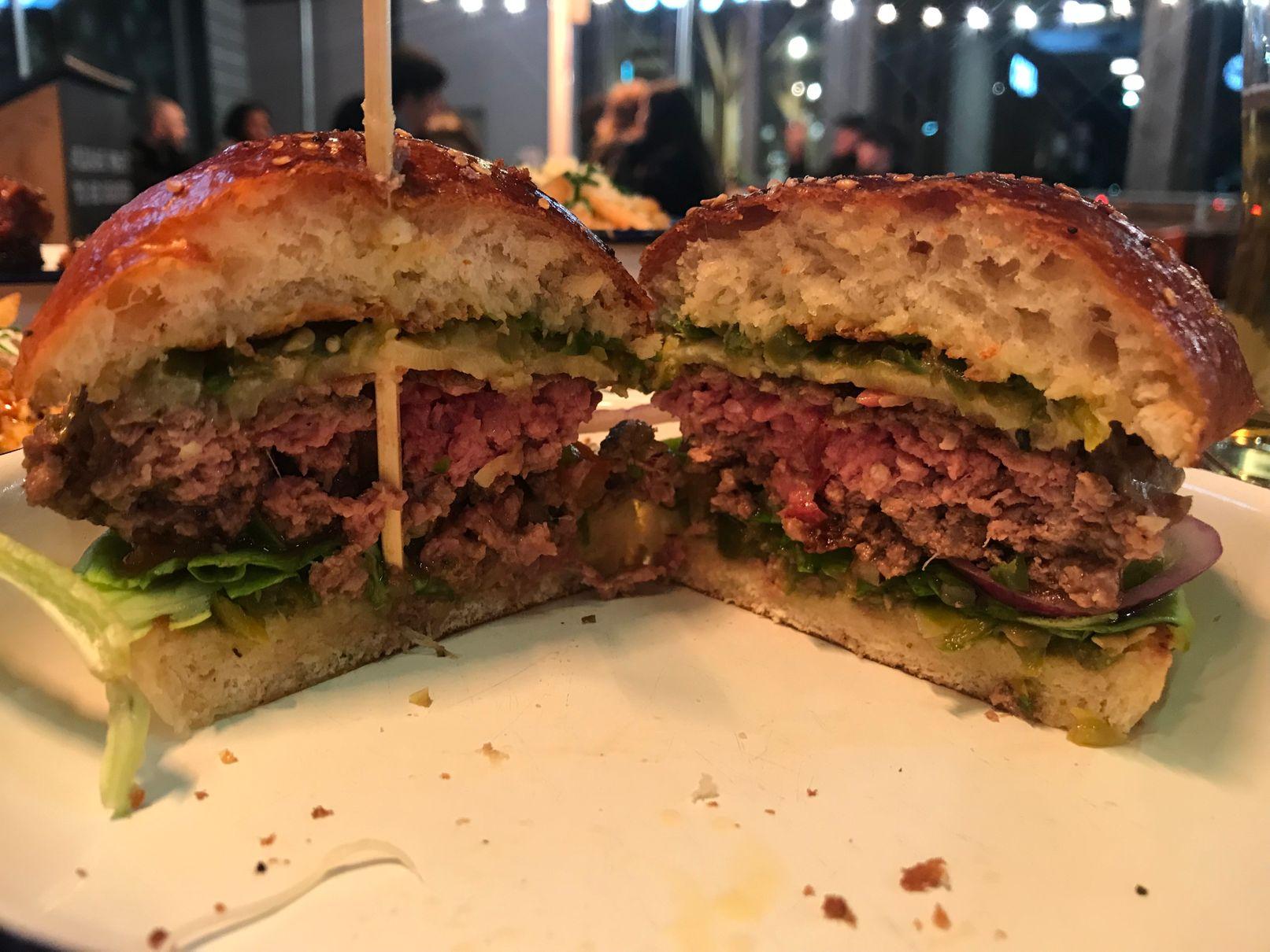 Burger at Beefy Boys Hereford