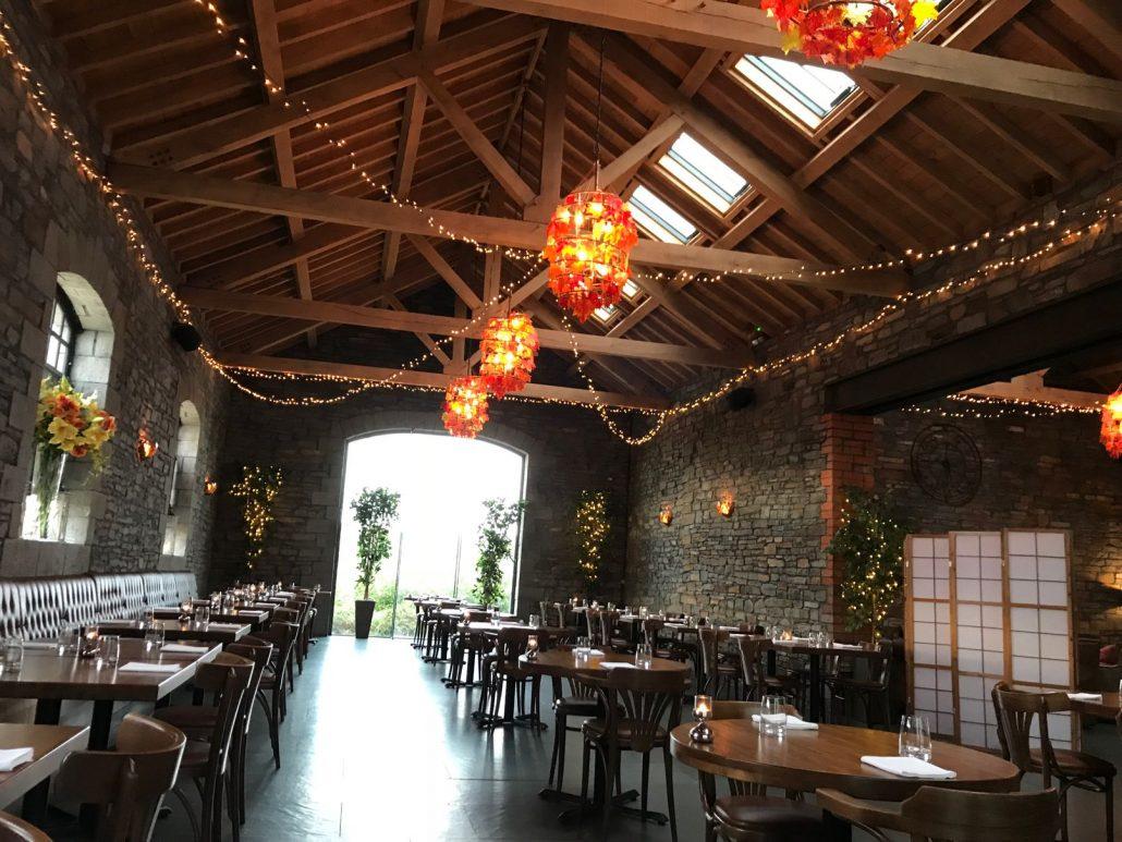 Inside the restaurant at Sosban Llanelli