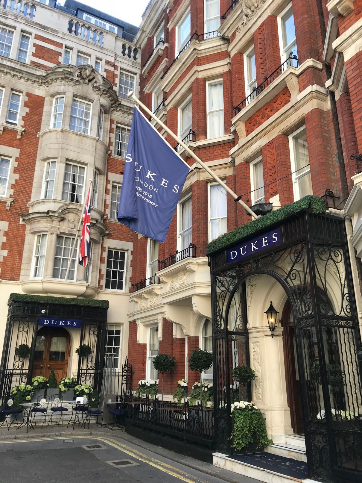 Outside Dukes Hotel London