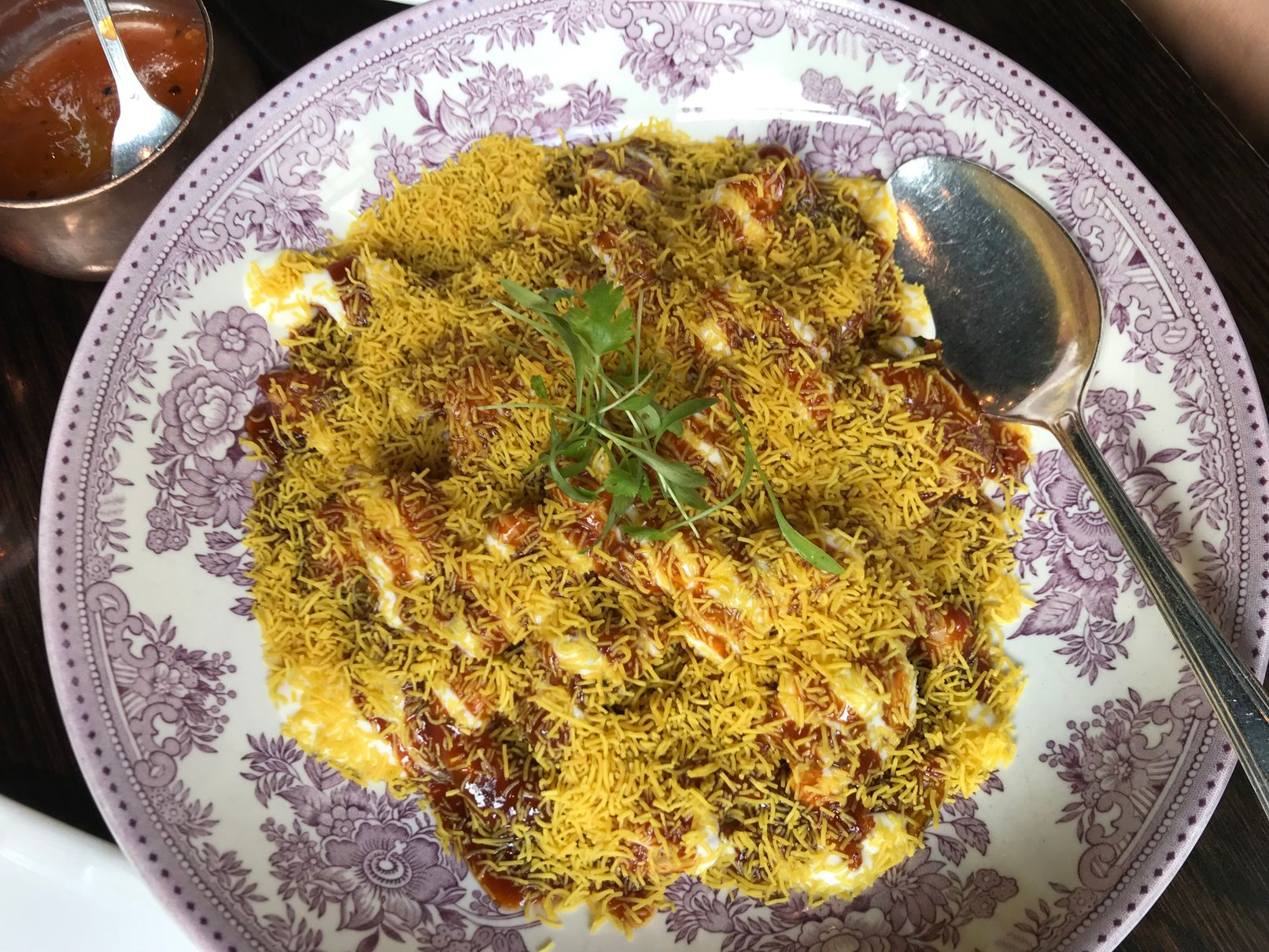 Potato chaat at Gymkhana Mayfair