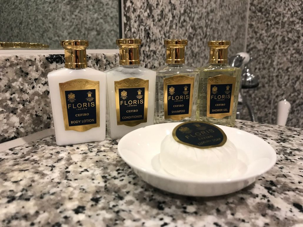 Toiletries at Dukes Hotel London