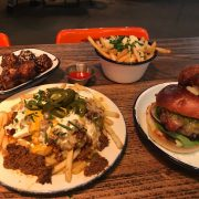chilli cheese fries and korean fried chicken at Beefy Boys Hereford