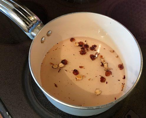 tonka bean and hazlenut syrup