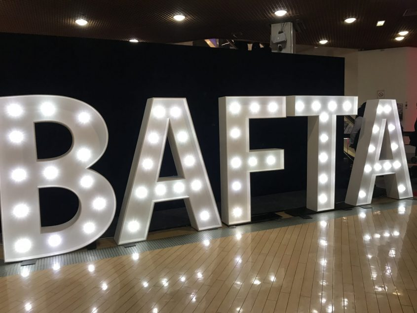 Bafta Cymru lights at St Davids Hall 2018