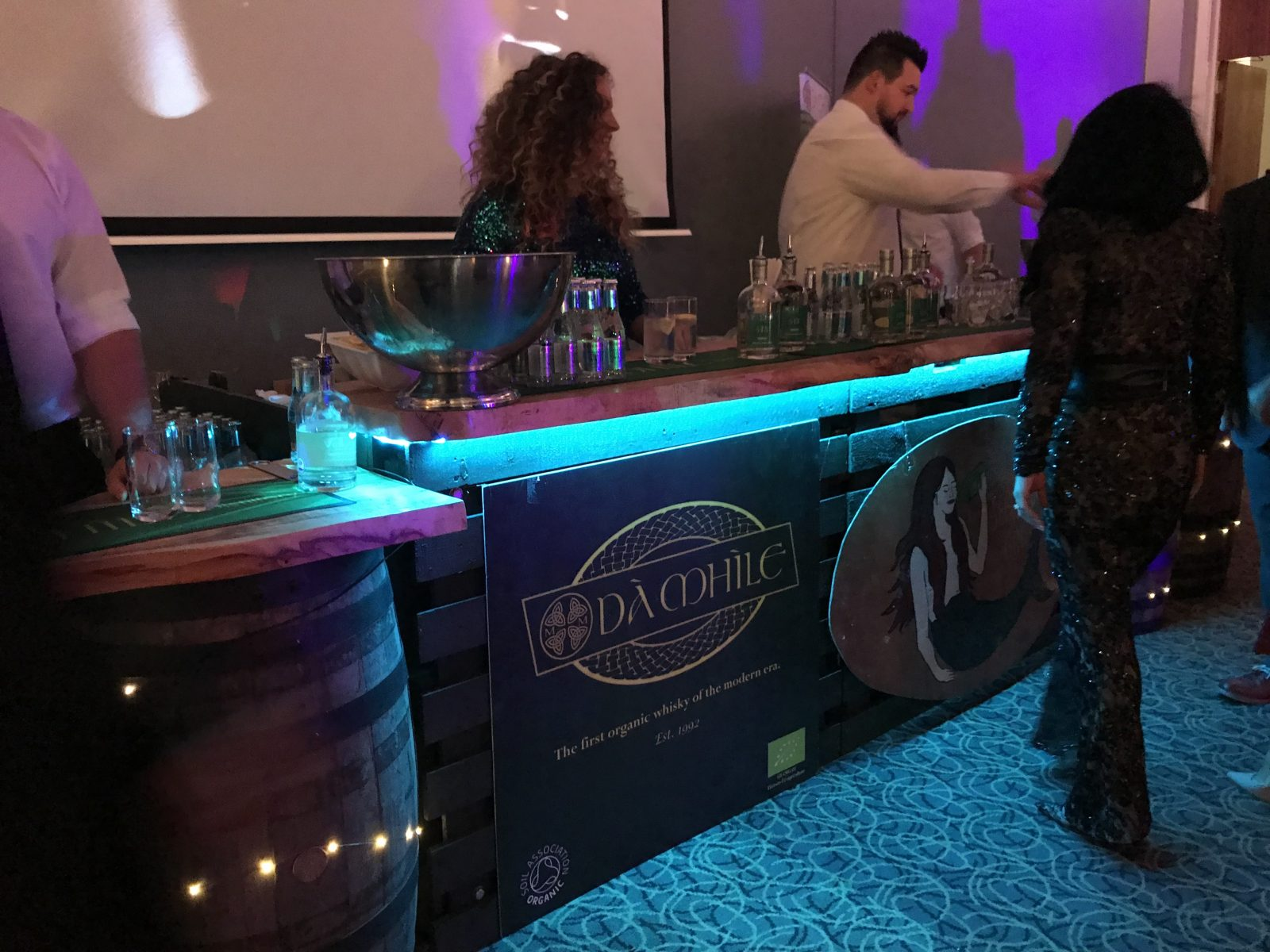 Da Mhile Welsh Gin Bar at Bafta Cymru afterparty 2018