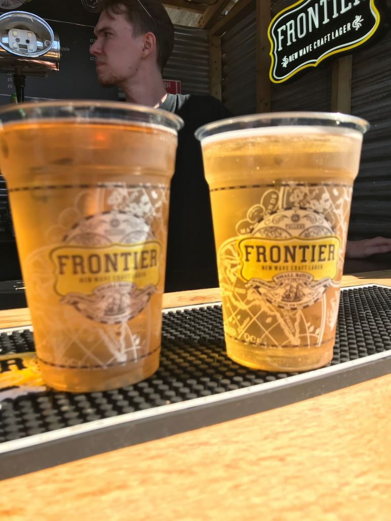 Frontier cider at Meatopia London