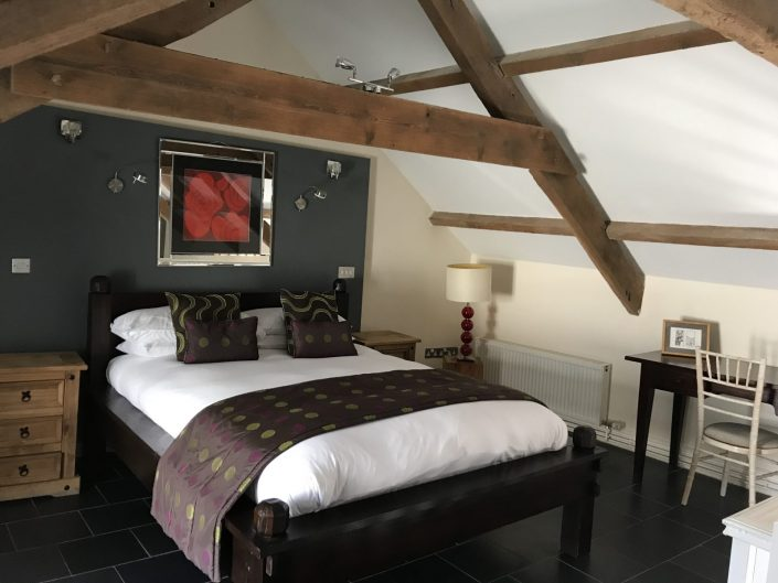 Cottage bedroom at The Corran Resort Laugharne