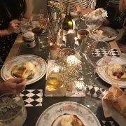 The chai panna cotta dessert for La Belle Assiette Private chef night in Cardiff
