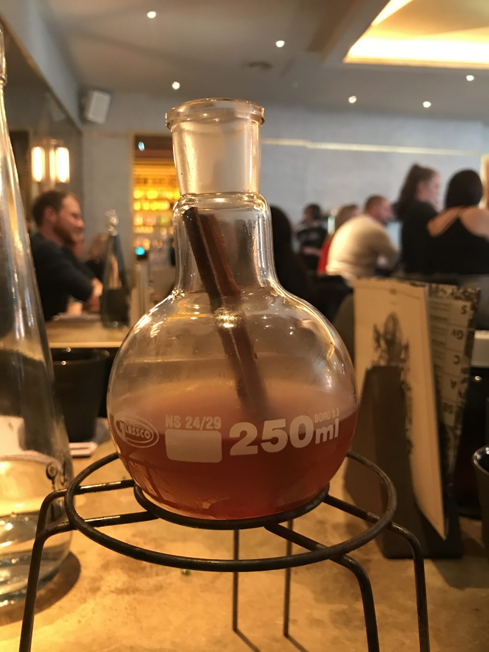smoked cocktail at the alchemist cardiff