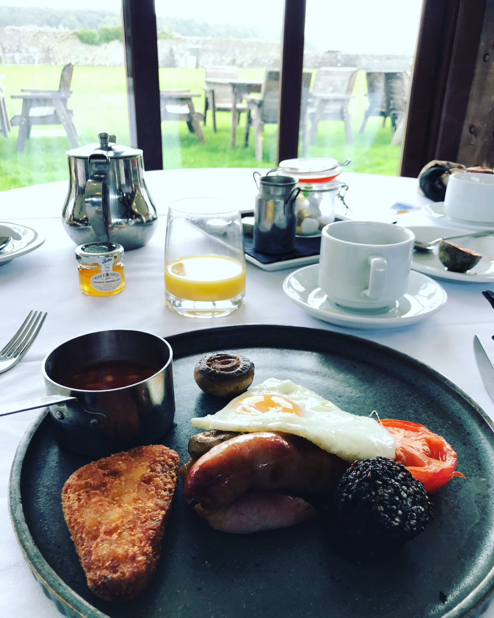 Full welsh breakfast at The Corran Laugharne