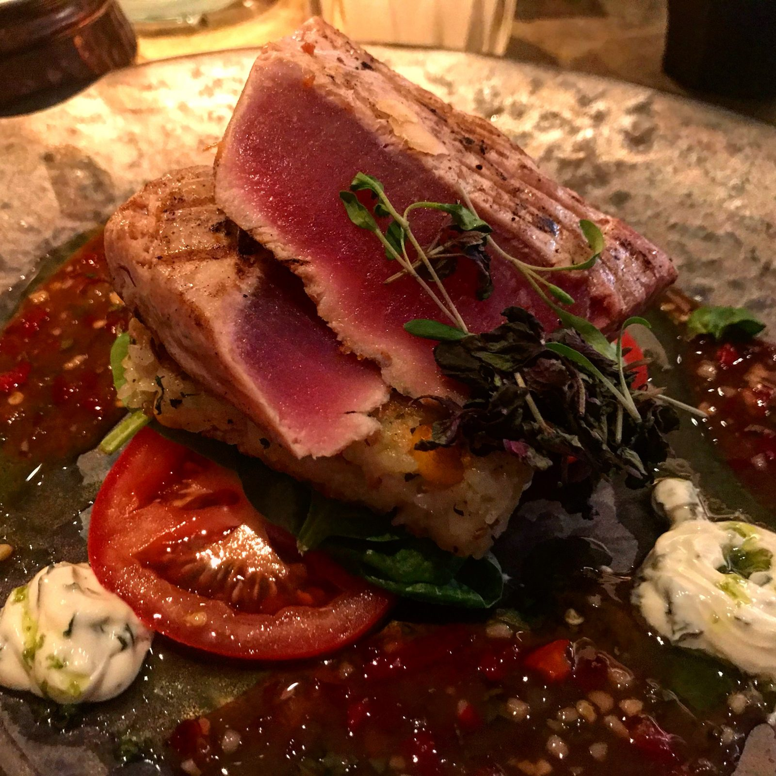tuna and rice cake - The Alchemist Cardiff