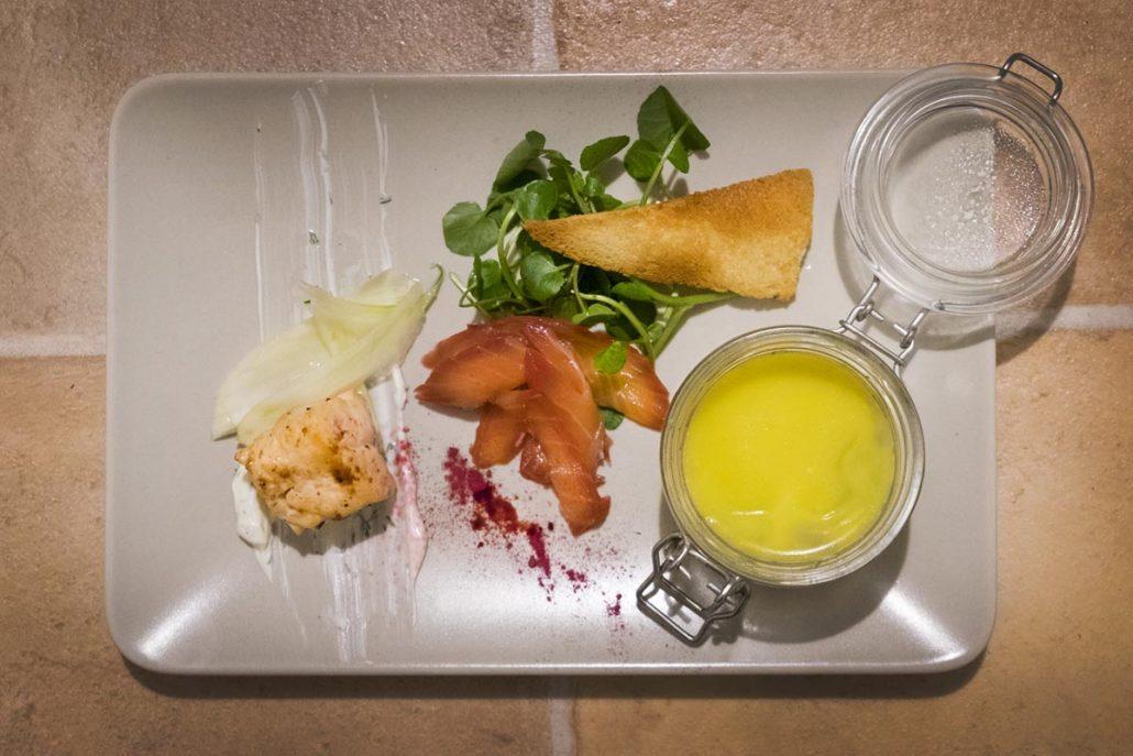 Salmon 3 ways starter for La Belle Assiette Private Chef in Cardiff
