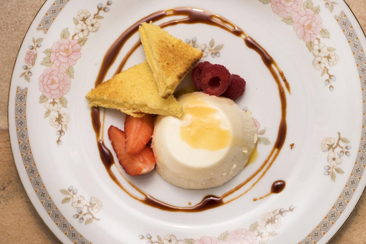 Chai Panna Cotta dessert from La Belle Assiette Private Chef in Cardiff