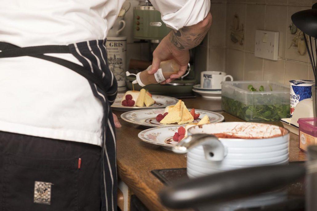 Chef Steve Gallagher preparing private chef night in Cardiff