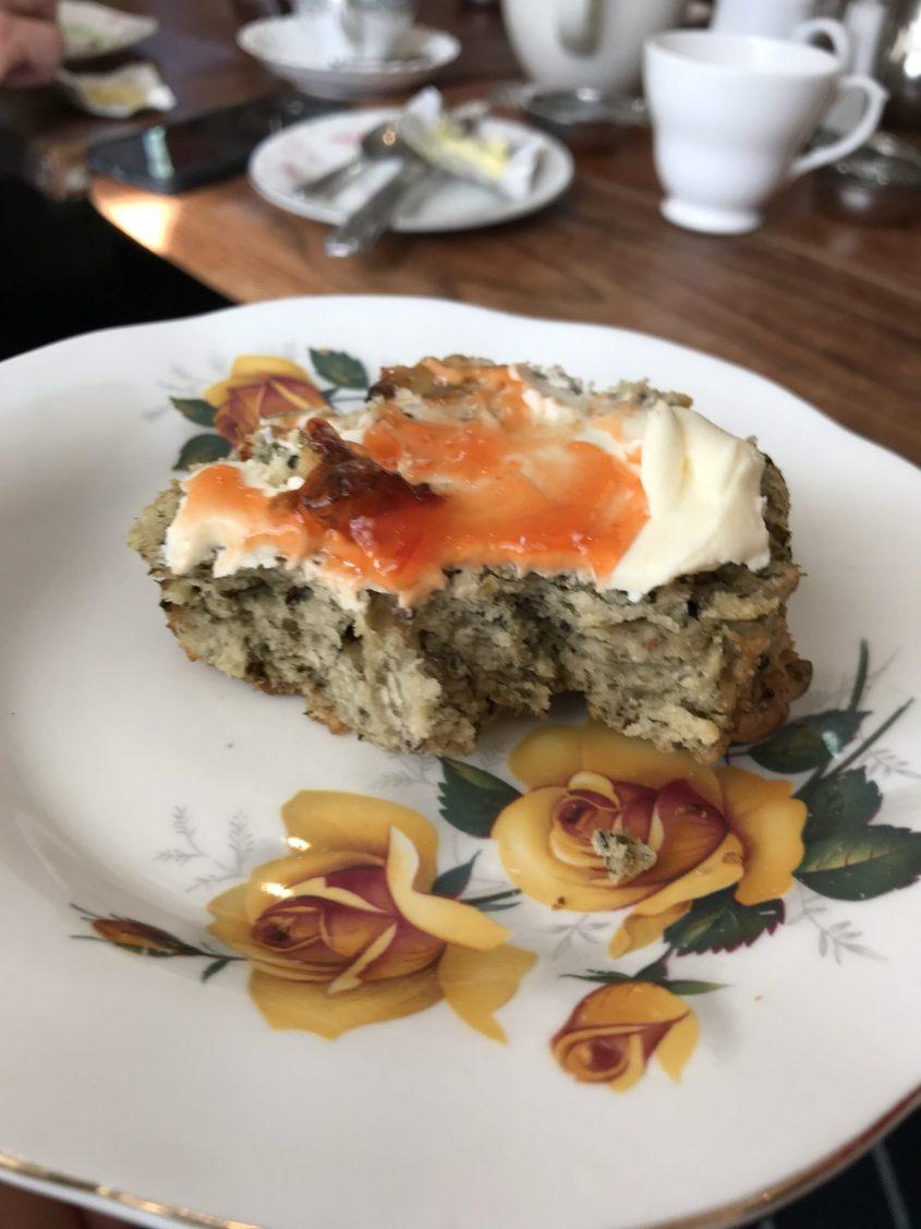 Savoury laverbread scone at Pettigrew Tea Rooms Cardiff