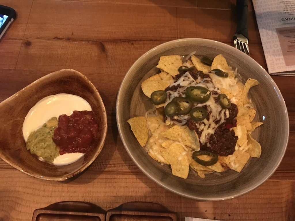 Nachos at Head of Steam Cardiff