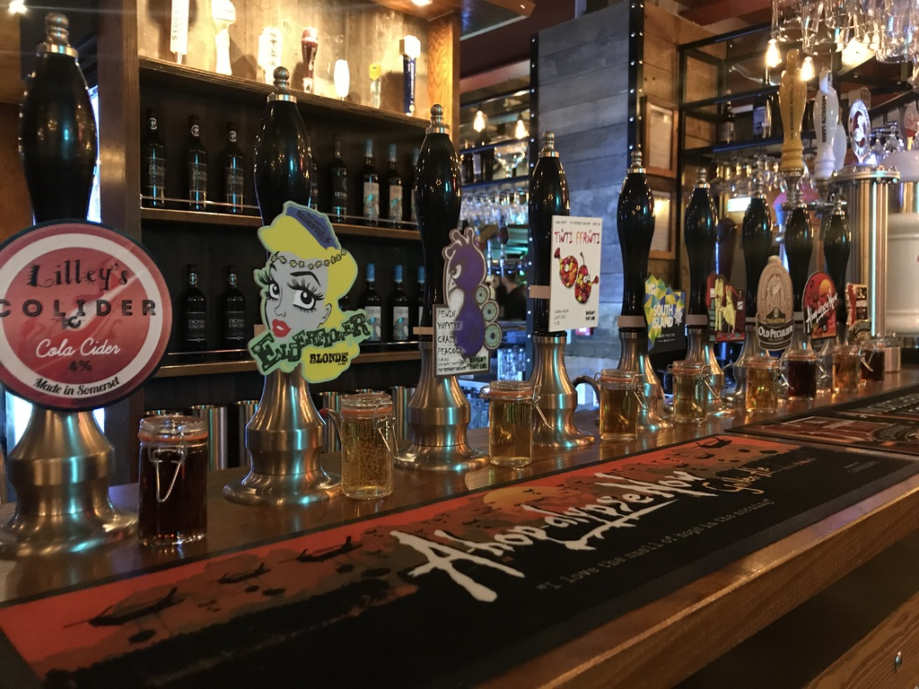 Craft Beer Selection at Head of Steam Cardiff