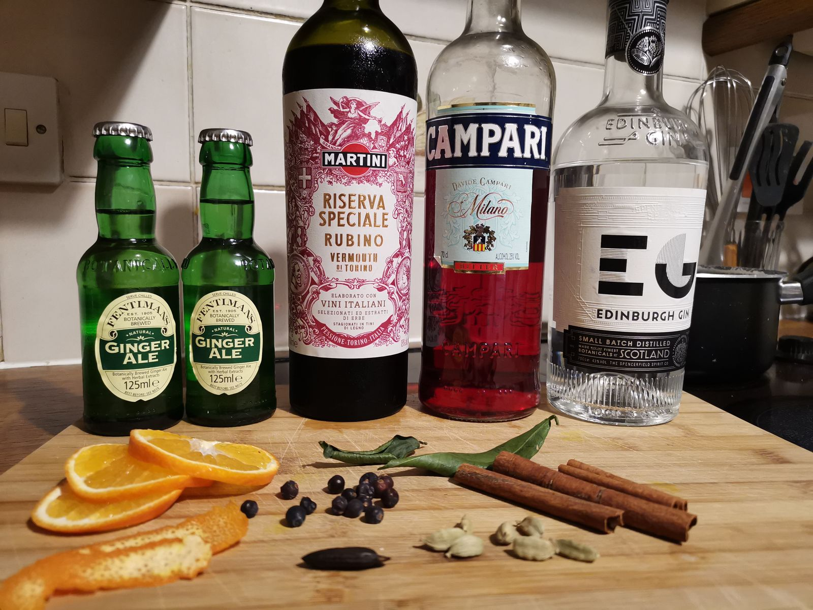 Mulled negroni recipe ingredients