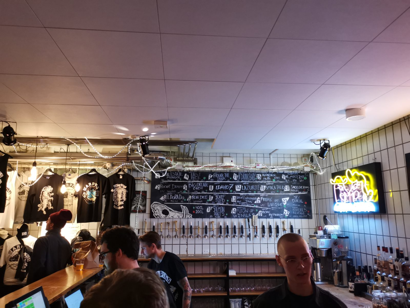 Mikkeller beers at Warpigs Copenhagen