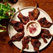 Middle Eastern Spiced Welsh Lamb lollipop recipe