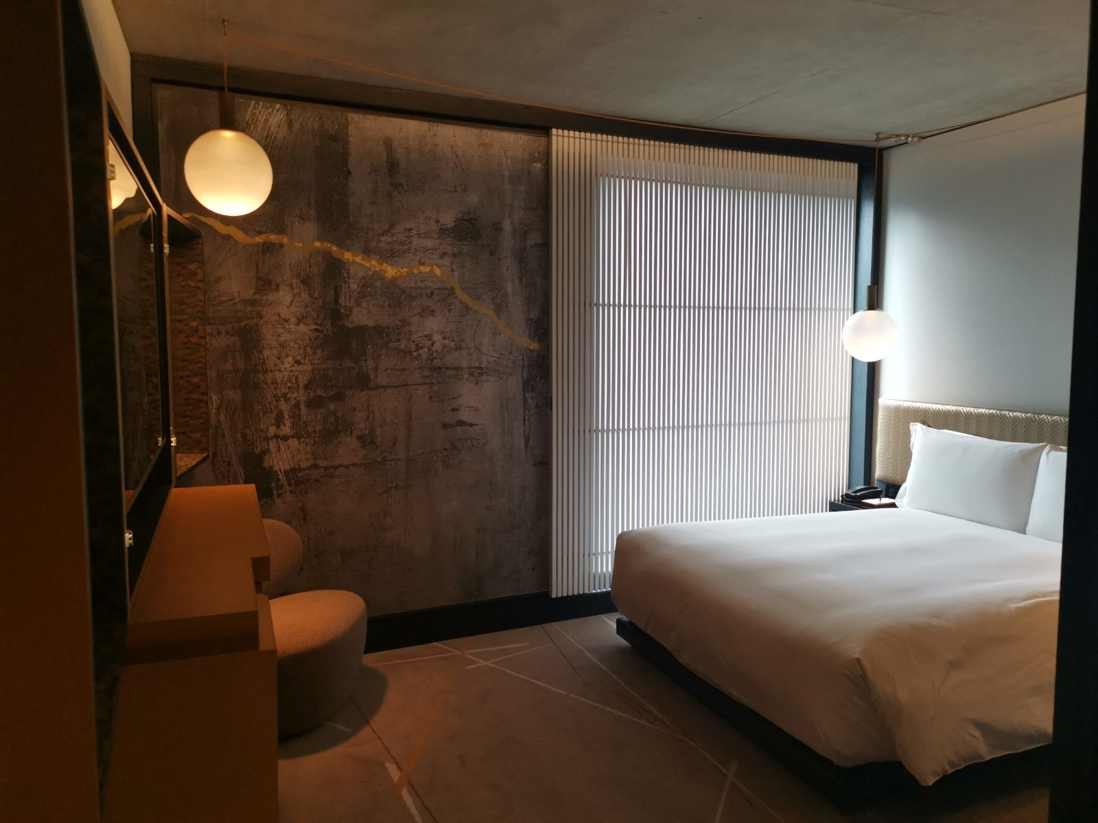 Bedroom at Nobu Shoreditch Hotel