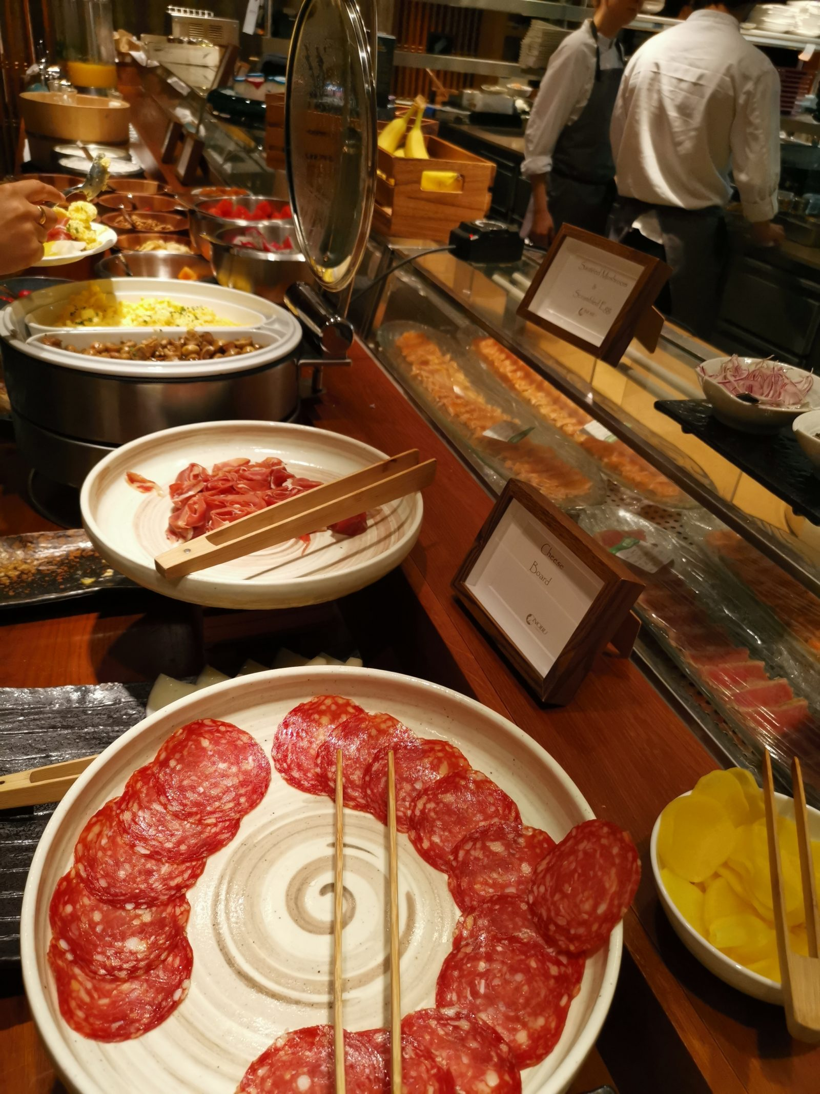 Buffet breakfast at Nobu Hotel Shoreditch