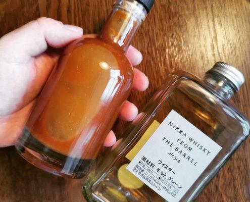 Nikka Whisky and tonka bean smoked salted caramel