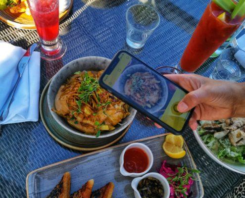 Photo of Asian food menu Admiral St David Cardiff Bay