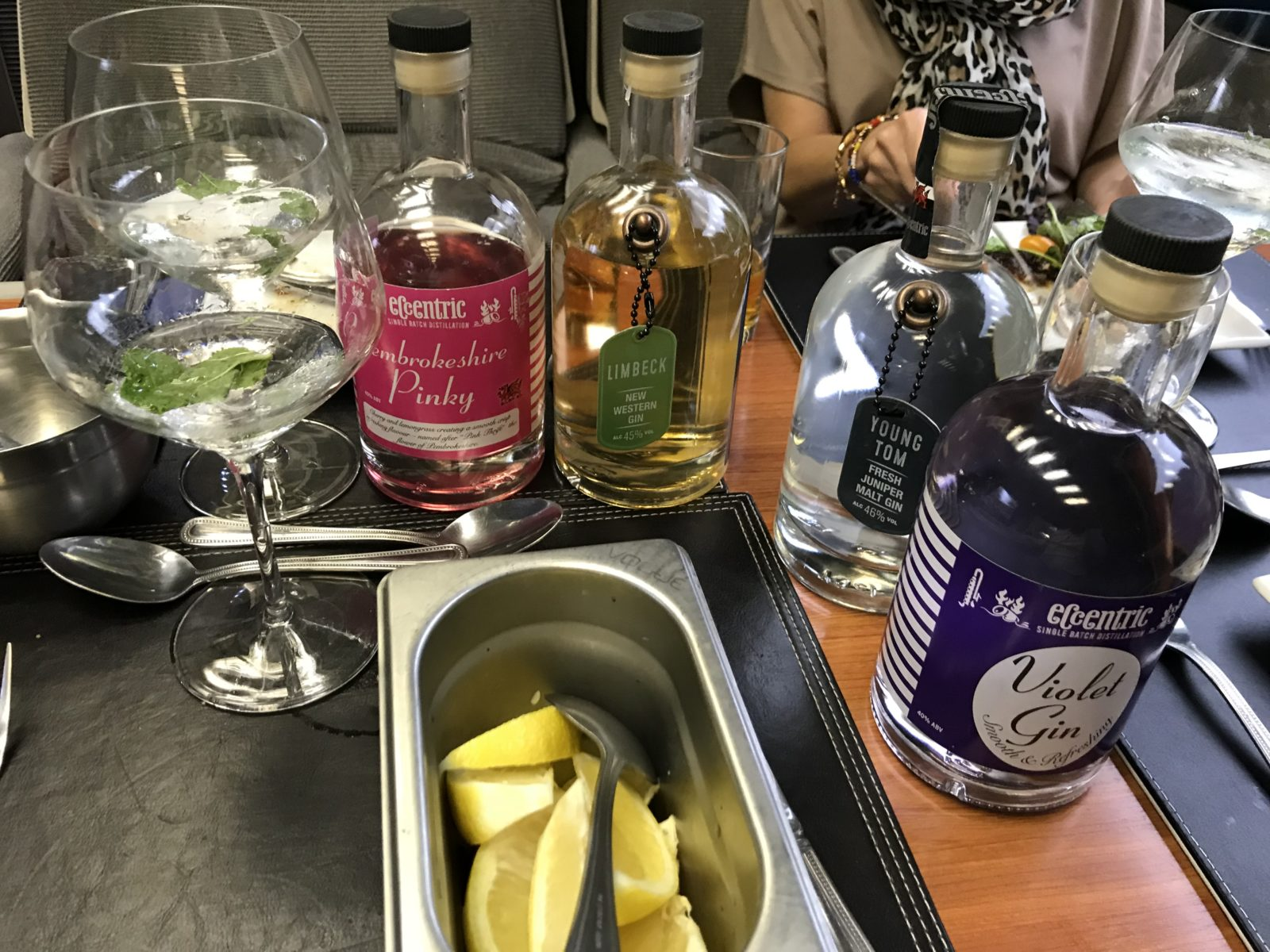 Welsh gin on Arriva Trains business class - Cardiff to Anglesey