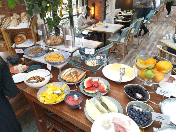 Buffet breakfast at The Curtain Hotel - London