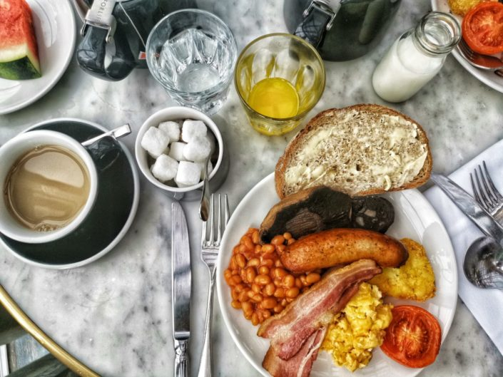 Fried Breakfast at The Curtain Hotel Shoreditch