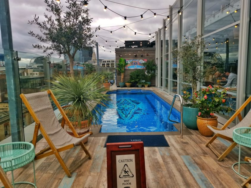 The Curtain Hotel Rooftop Pool - Shoreditch, London