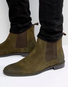 ASOS Chelsea Boots in Khaki Suede