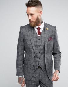 Feraud Heritage Premium Wool Check Suit Jacket