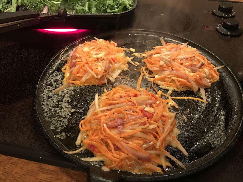 sweet potato, goats cheese and chilli rosti recipe