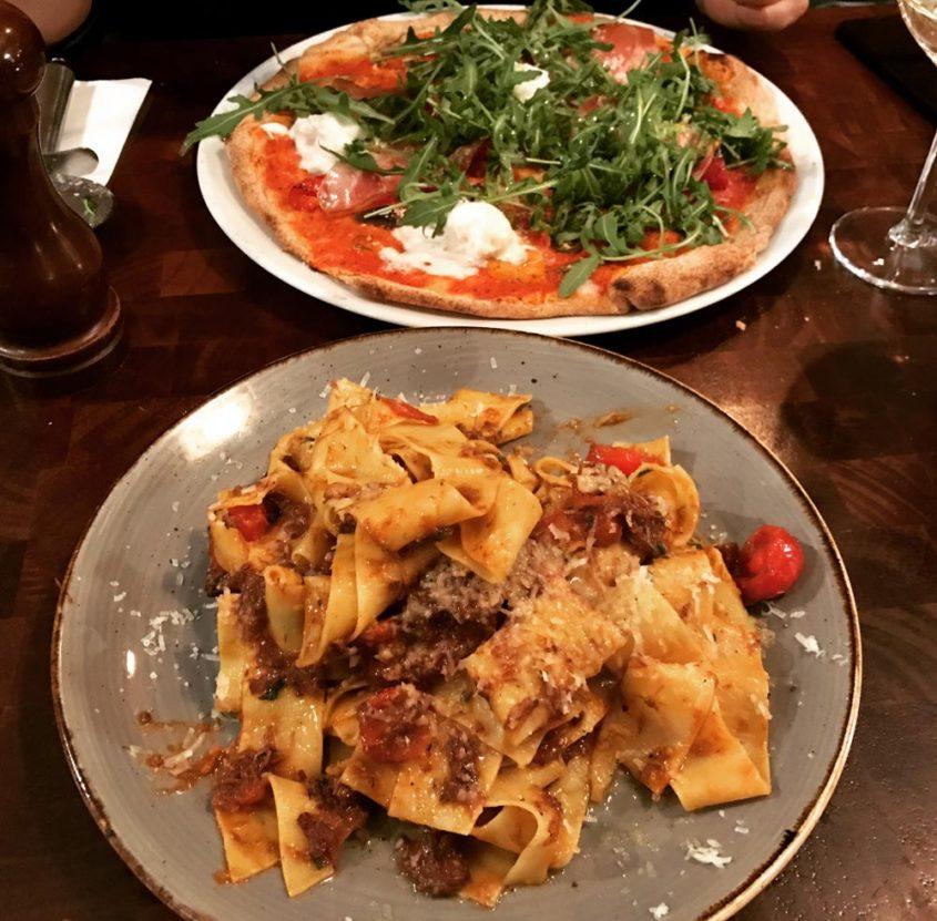 Pizza and pasta at Porro Italian Restaurant Lllandaff, Cardiff
