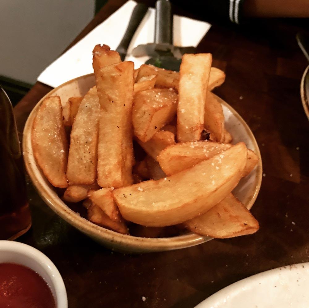 white truffle fries at Porro Llandaff