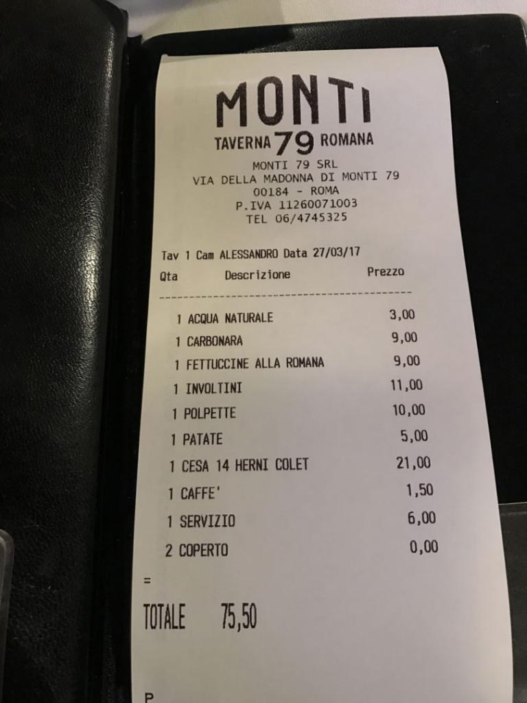Romana Taverna bill and review
